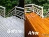 Cedar Deck Fixed and Sanded