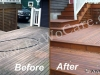 Weathered Deck restored to Natural Cedar