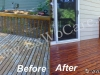 Restoring Clear Dark Cedar Deck