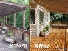 Large Deck with Overhead Refinishing