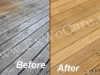 Deck Cleaning Close-Up