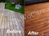 Cedar Deck Refinishing to Natural Cedar