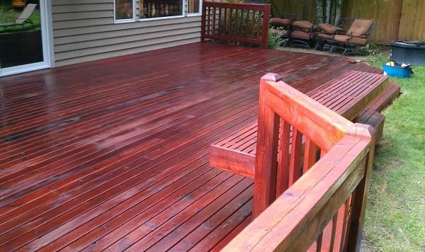deck stain deck restoration